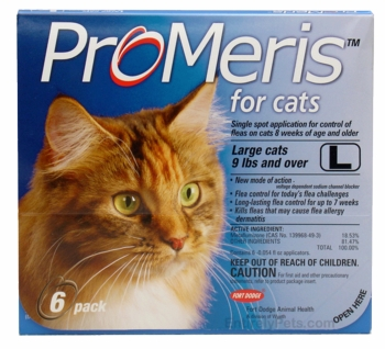 6 Pack ProMeris for  Cats 9 lbs and over