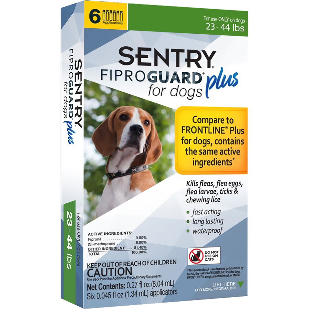 6-PACK SENTRY FiproGuard Plus Flea & Tick Spot-On for Dogs (23-44 lbs)