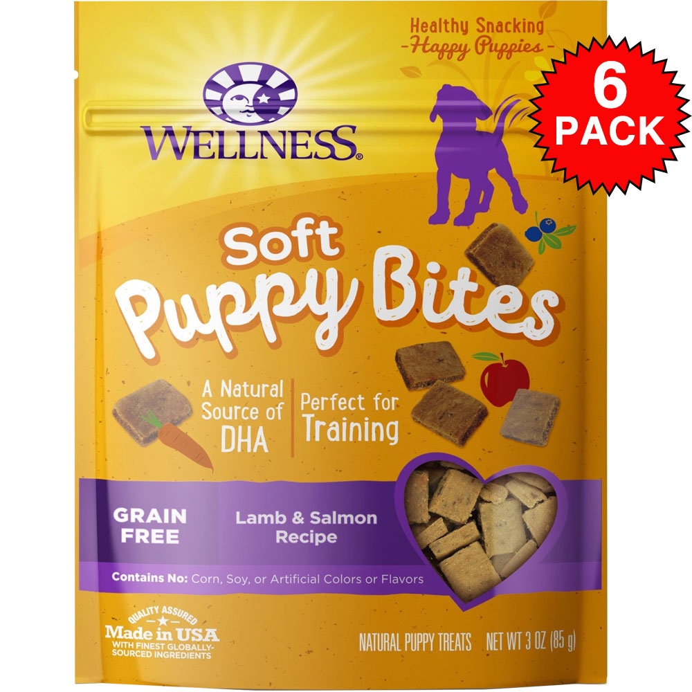 6-PACK Wellness Puppy Bites - Lamb & Salmon (18 oz)