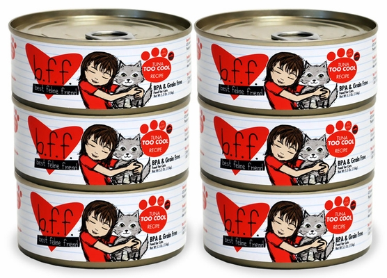6-PACK Weruva Best Feline Friend Canned Cat Food, Tuna Too Cool Recipe (33 oz)