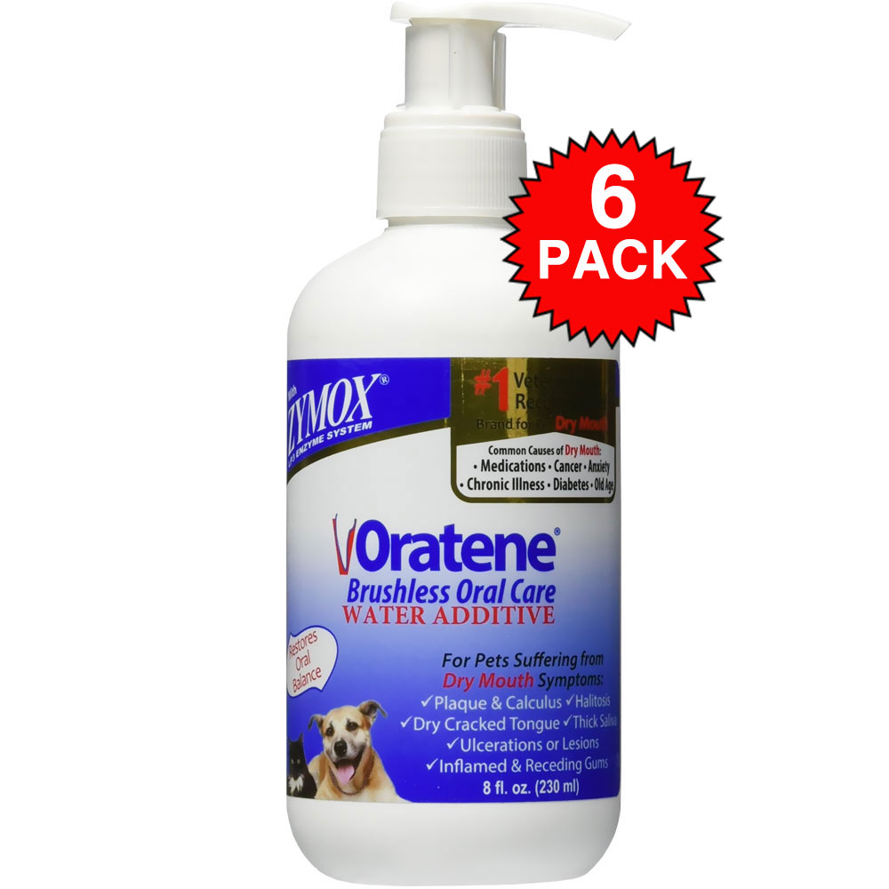 6-PACK Zymox Oratene Drinking Water Additives (48 oz)