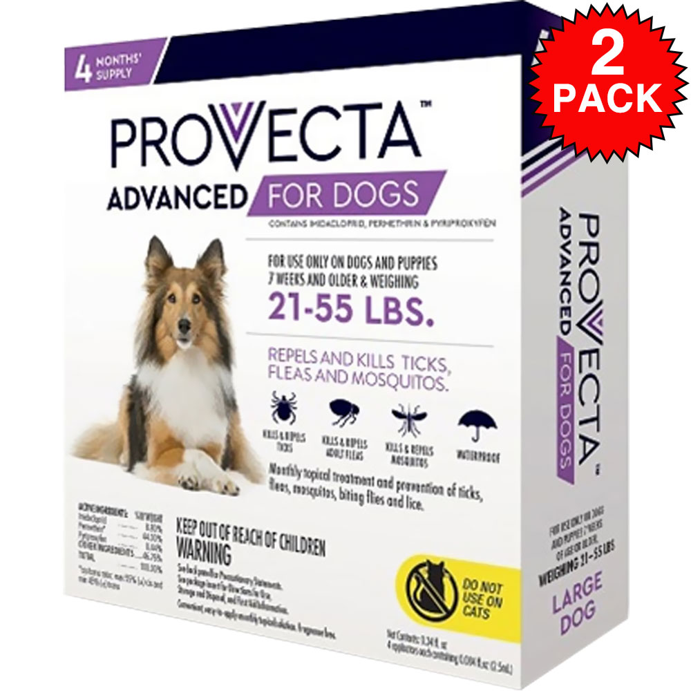 8 MONTH Provecta Advanced for Large Dogs (21-55 lbs)