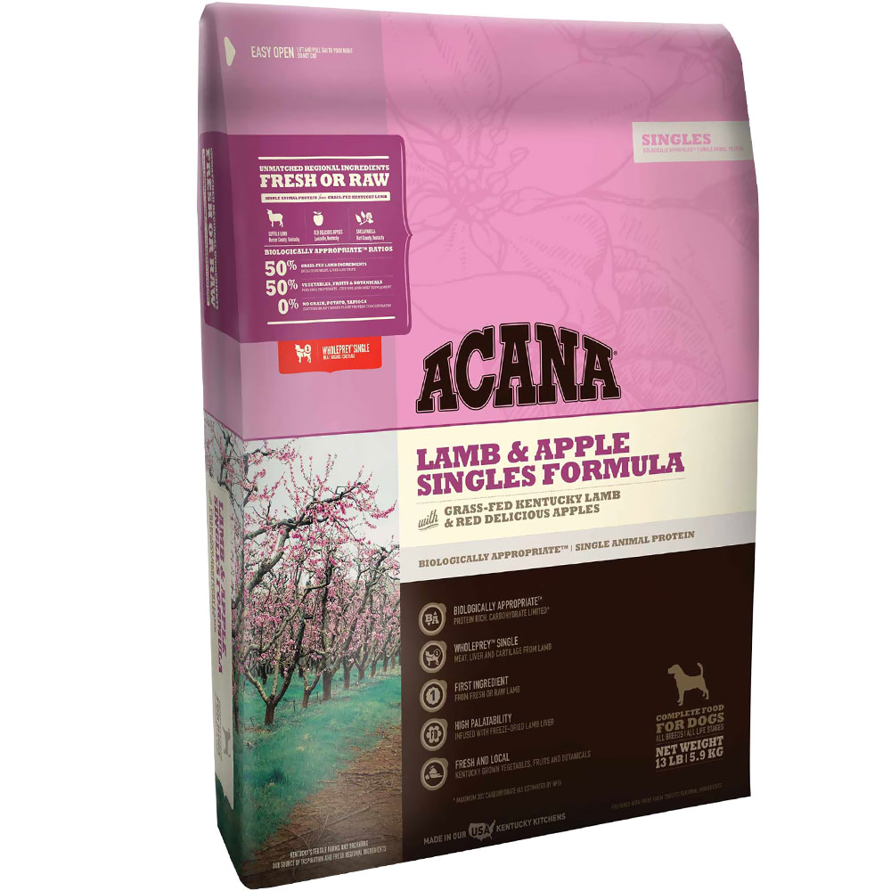 Acana Singles Lamb & Apple (25 lb)