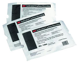 "Activated Carbon Dressing (4""x6"") - 5 pack"