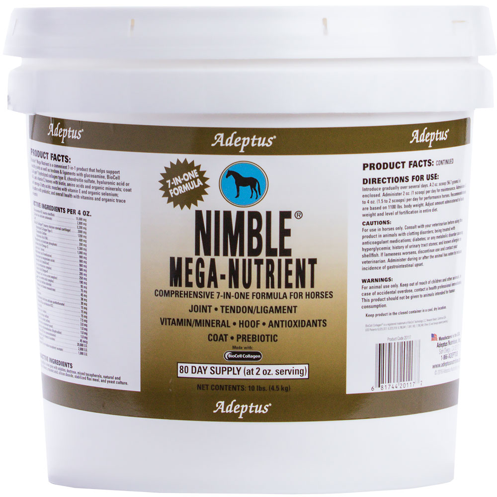Adeptus Nimble Mega-Nutrient 7-In-One Formula for Horses (10 lbs)
