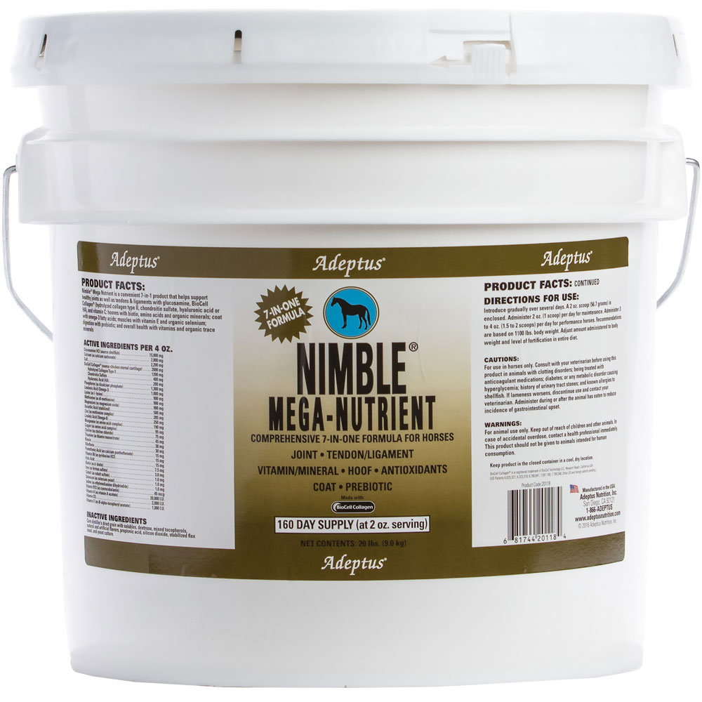Adeptus Nimble Mega-Nutrient 7-In-One Formula for Horses (20 lbs)