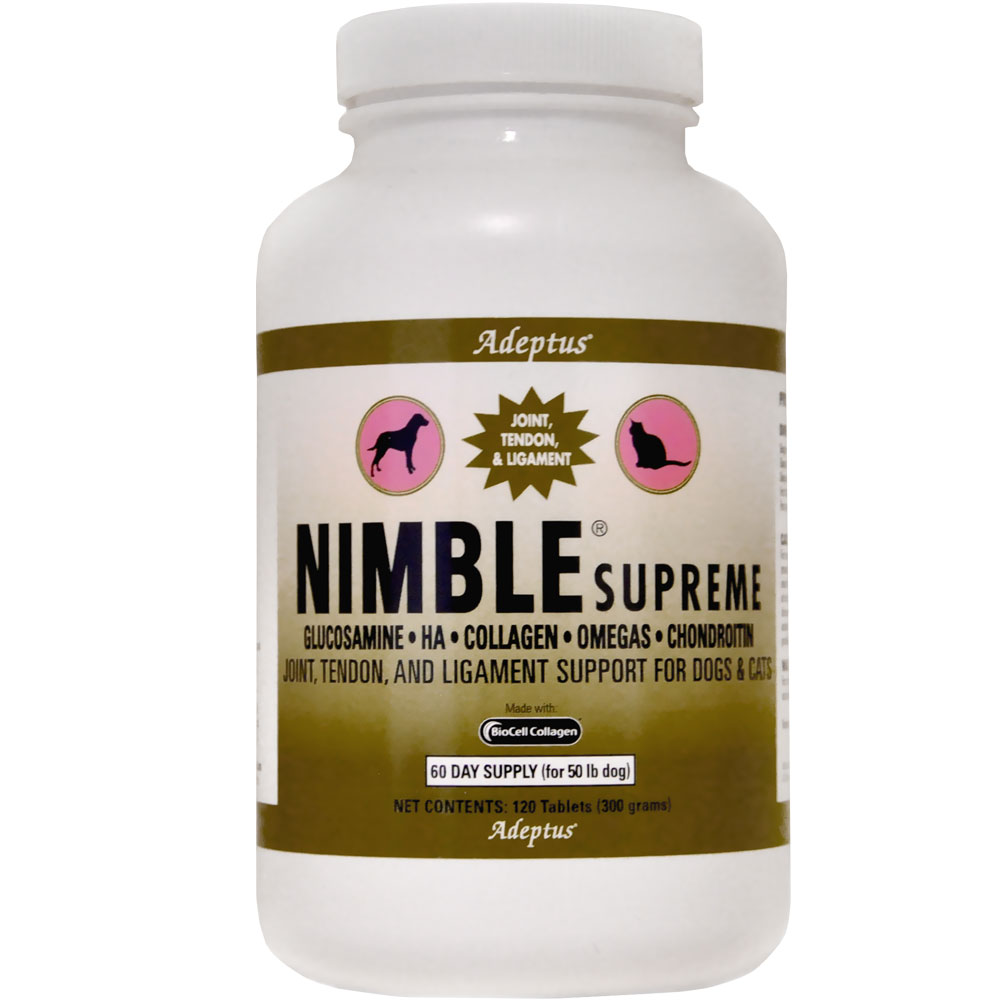 Adeptus Nimble Supreme for Pets (120 tablets)