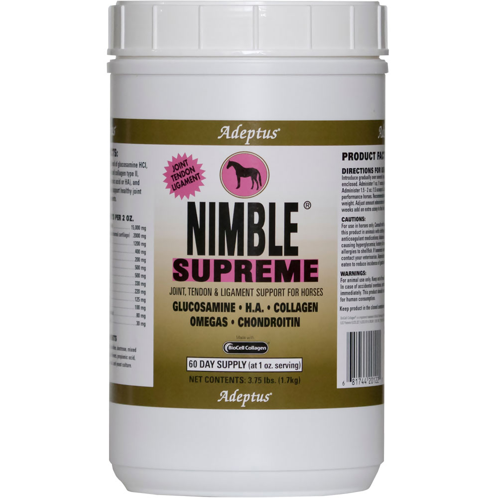 Adeptus Nimble Supreme Joint & Tendon Support for Horses (3.75 lbs)