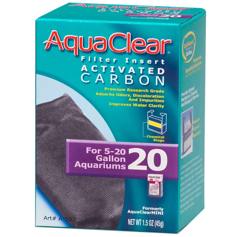 AquaClear 20 Filter Insert Activated Carbon (1.5 oz)