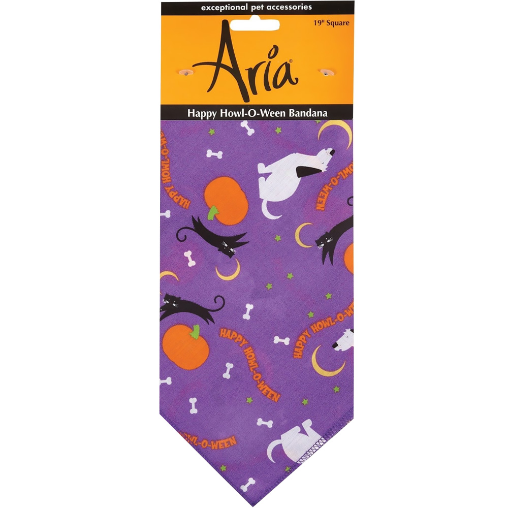 Aria Happy Howl-O-Ween Bandana - Purple