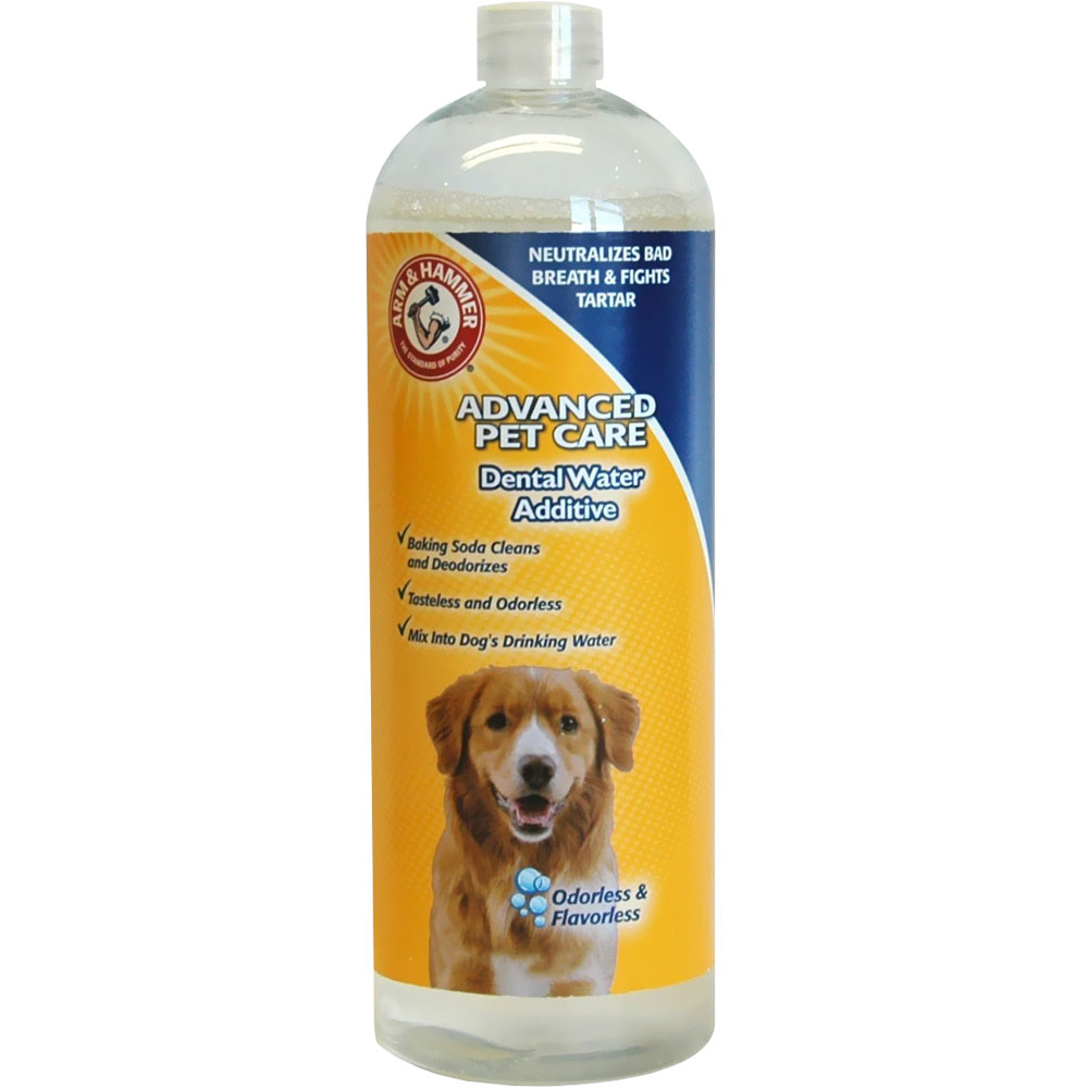 Arm hammer dental water additives for dogs 27 fl oz for Dog dental water additive