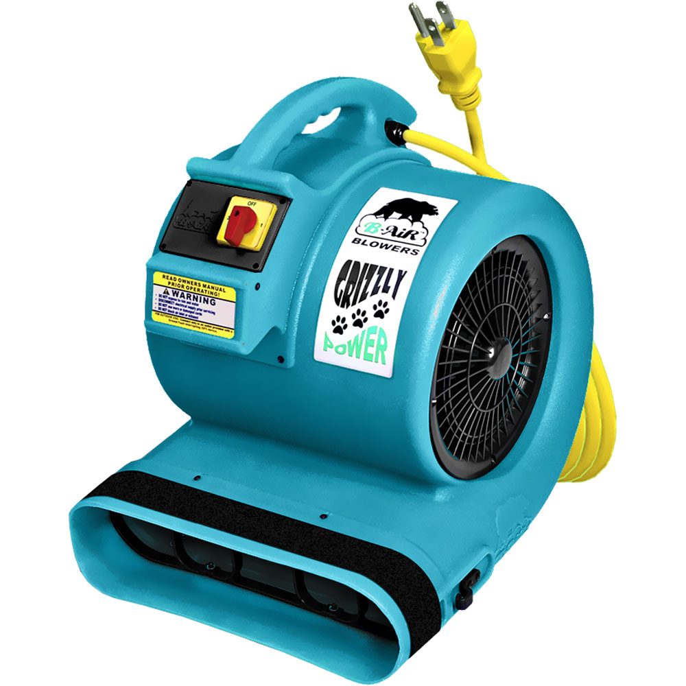 B-Air Grizzly 3 Speeds Multi Cage Dryer - Turquoise