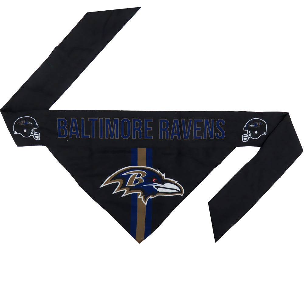 Baltimore Ravens Dog Bandana - Tie On (Large)