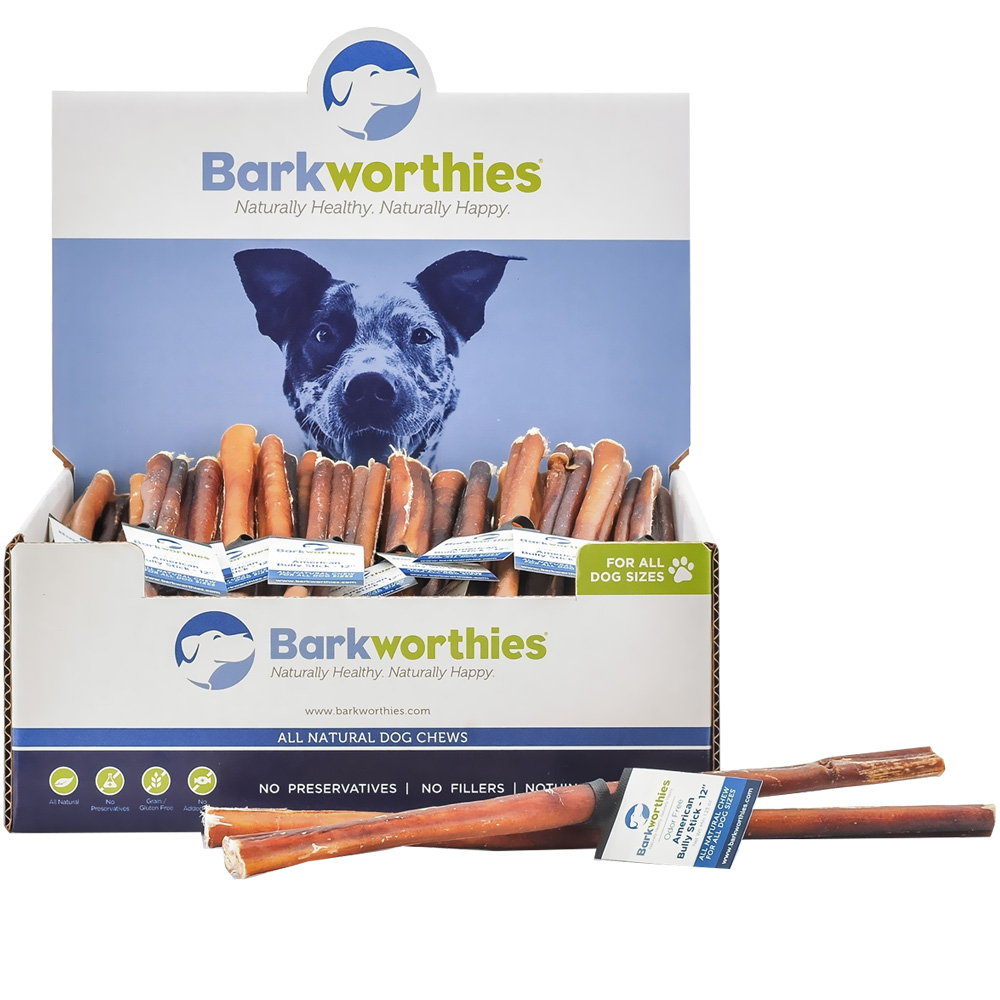 barkworthies odor free american bully stick 12. Black Bedroom Furniture Sets. Home Design Ideas