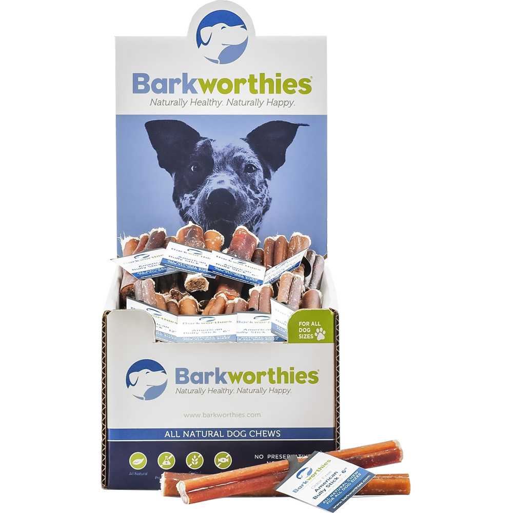 barkworthies odor free american bully stick 6 entirelypets. Black Bedroom Furniture Sets. Home Design Ideas