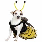Bee Mine Dog Costume Yellow - MEDIUM