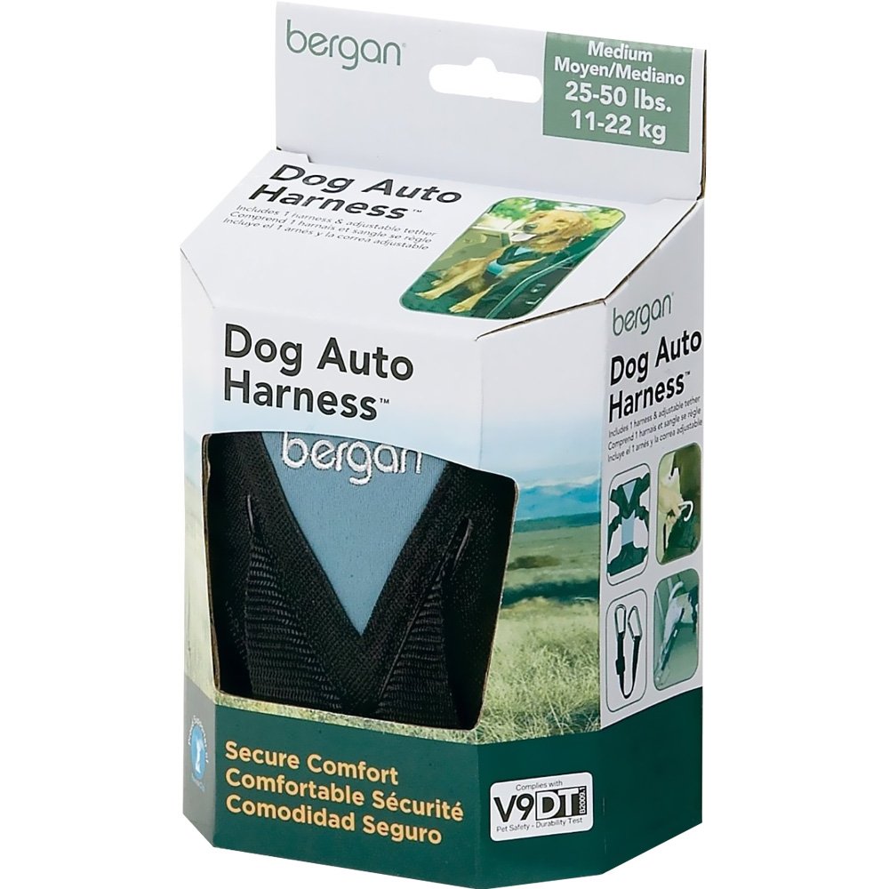 Bergan Dog Travel Harness - Medium Blue
