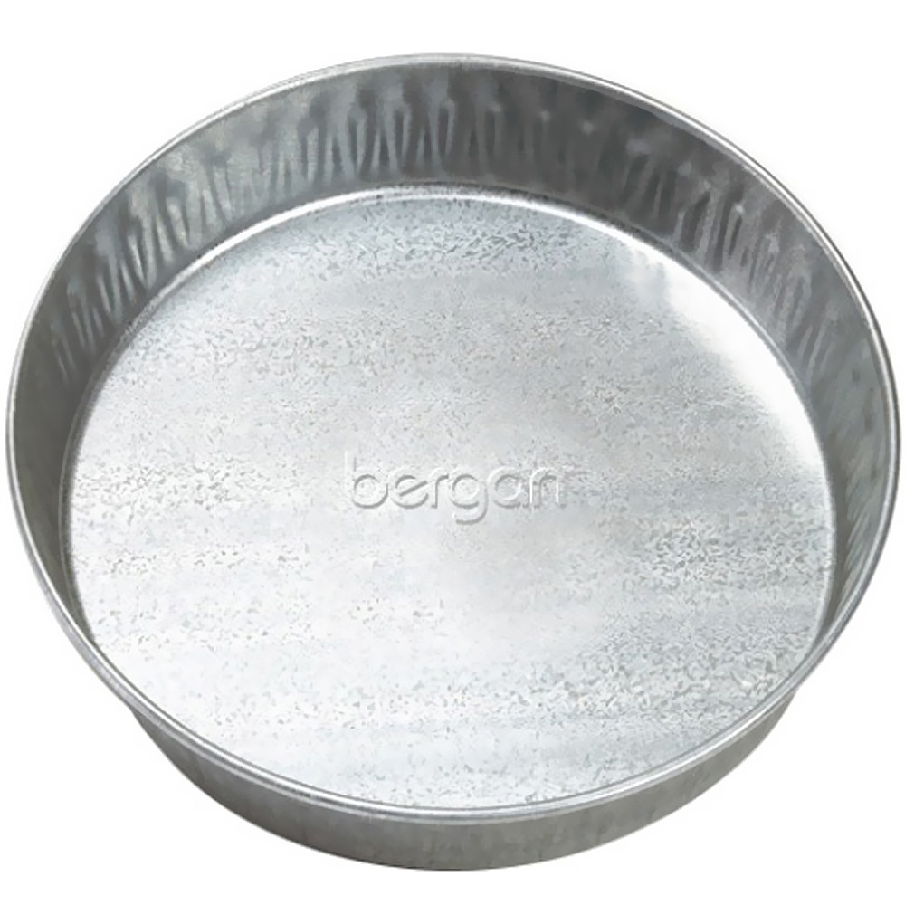 "Bergan Galvanized Pet Pan 3 Quarts - Silver (12.5"" x 12.5"" x 2.13"")"