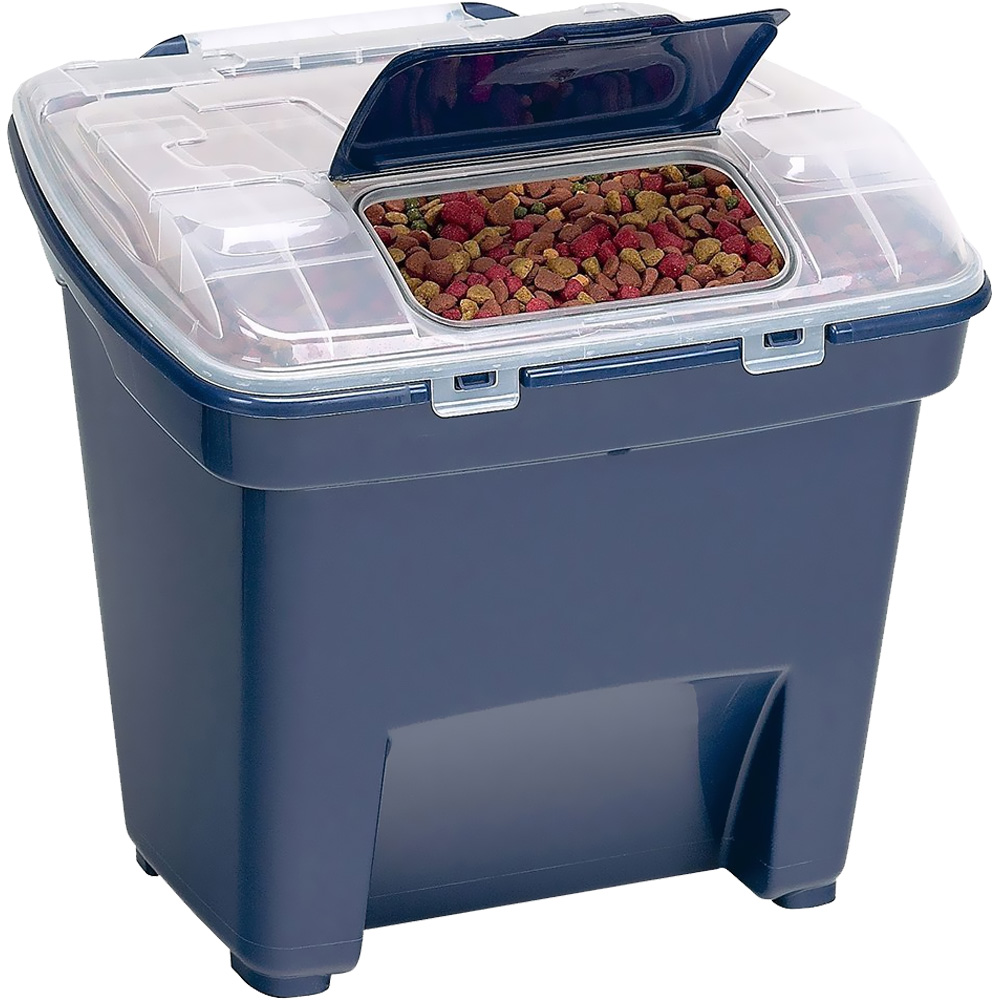 "Bergan Pet Food Smart Storage - Large Blue (18"" x 20"" x 18"")"