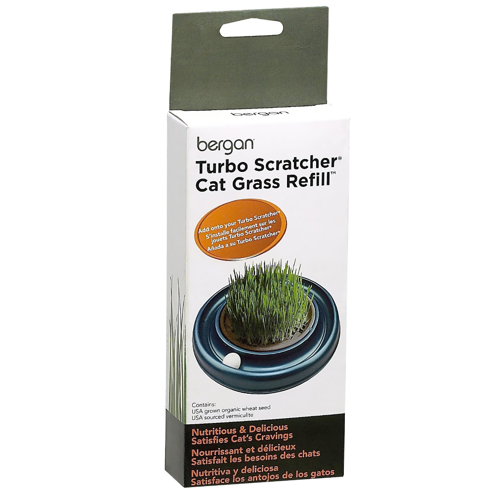 Bergan Turbo Scratcher & Star Chaser Cat Grass Refill