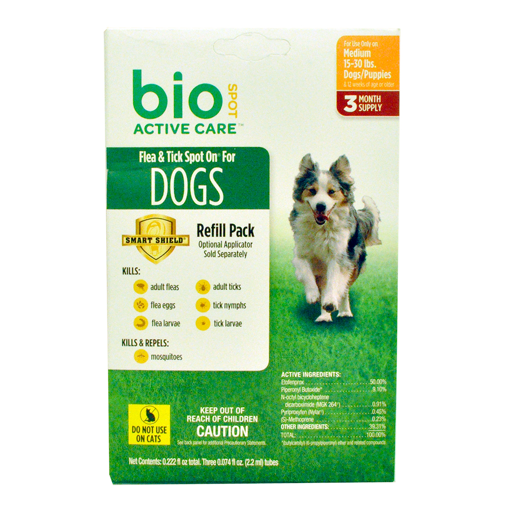 Bio Spot Active Care Flea & Tick Spot On Refill - Medium Dogs (3 Months)