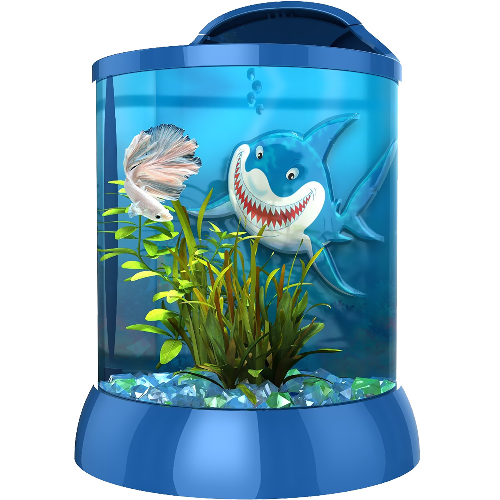 "BioBubble 3D Background for AquaTerra 2 - Gallon Blue (9"" x 9"" x 12"")"