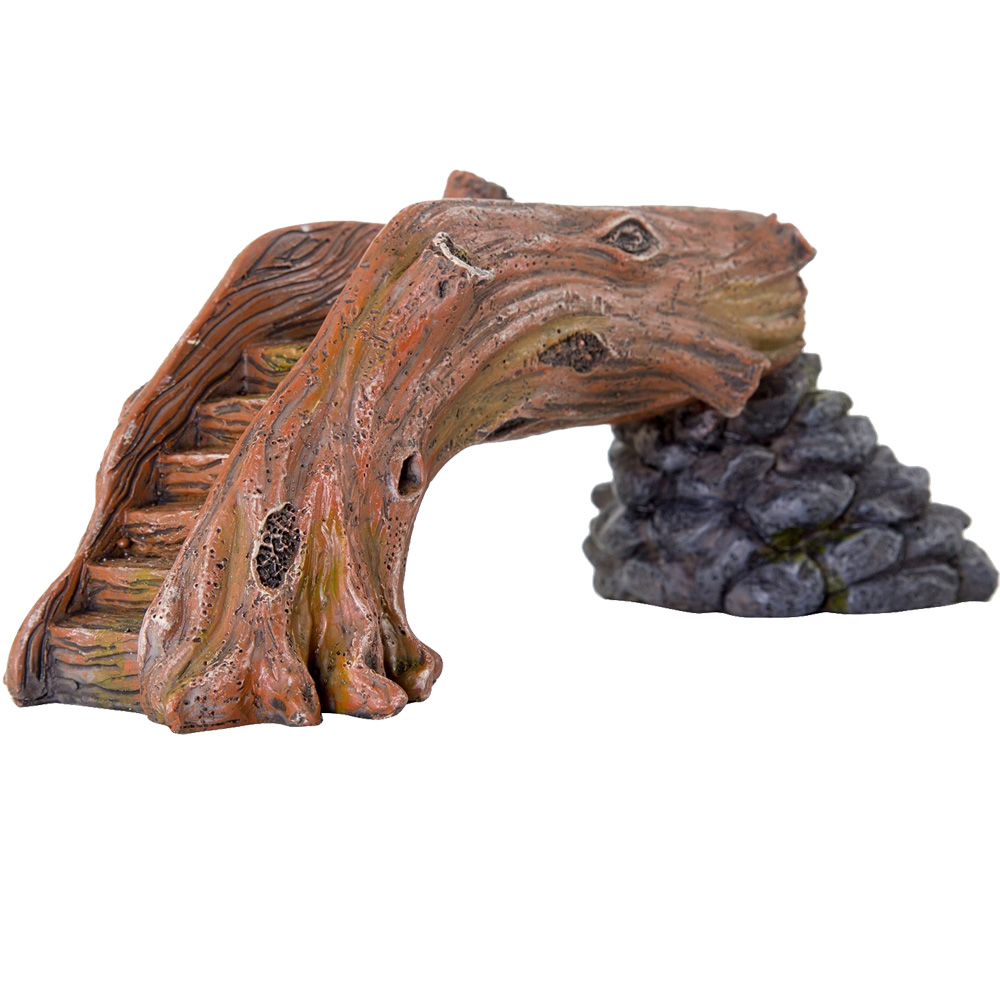 "BioBubble Decorative Fallen Log Bridge - Small (7.5"" x 3.5"" x 3"")"