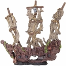 "BioBubble Decorative Mystery Pirate Ship - Large (17"" x 6.25"" x 9.75"")"