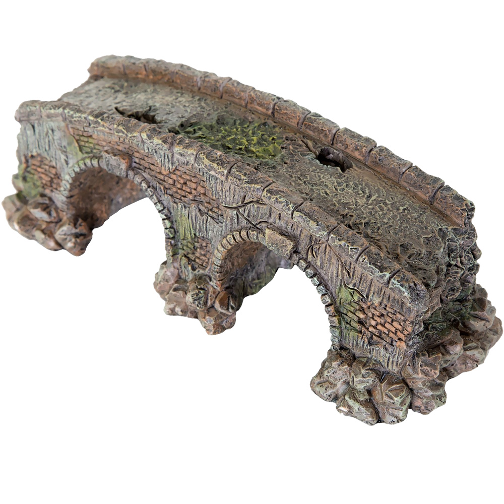 "BioBubble Decorative Old Stone Bridge - Small (3.5"" x 3.5"" x 5"")"