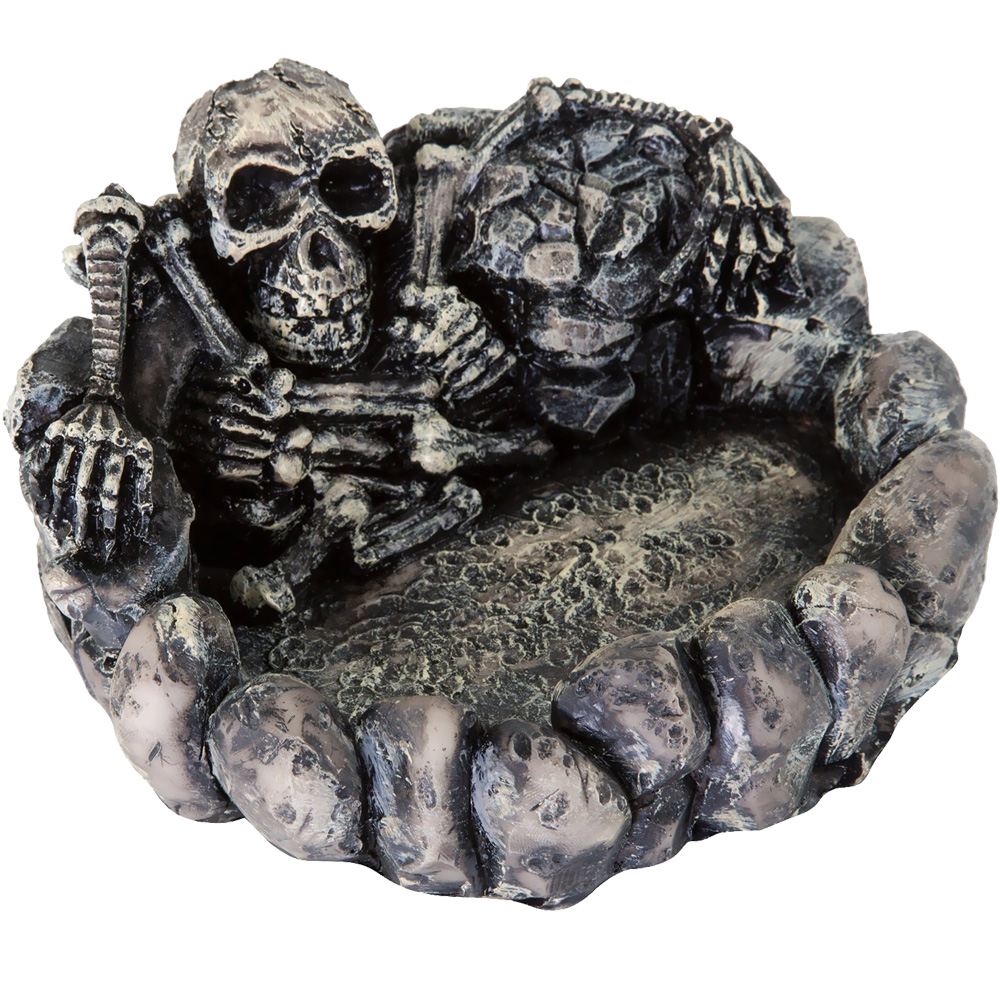 "BioBubble Decorative Skeleton Dish - Large Silver (5.5"" x 5"" x 2.75"")"