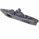 "BioBubble Decorative Sunken Battleship (13"" x 2.25"" x 4.25"")"