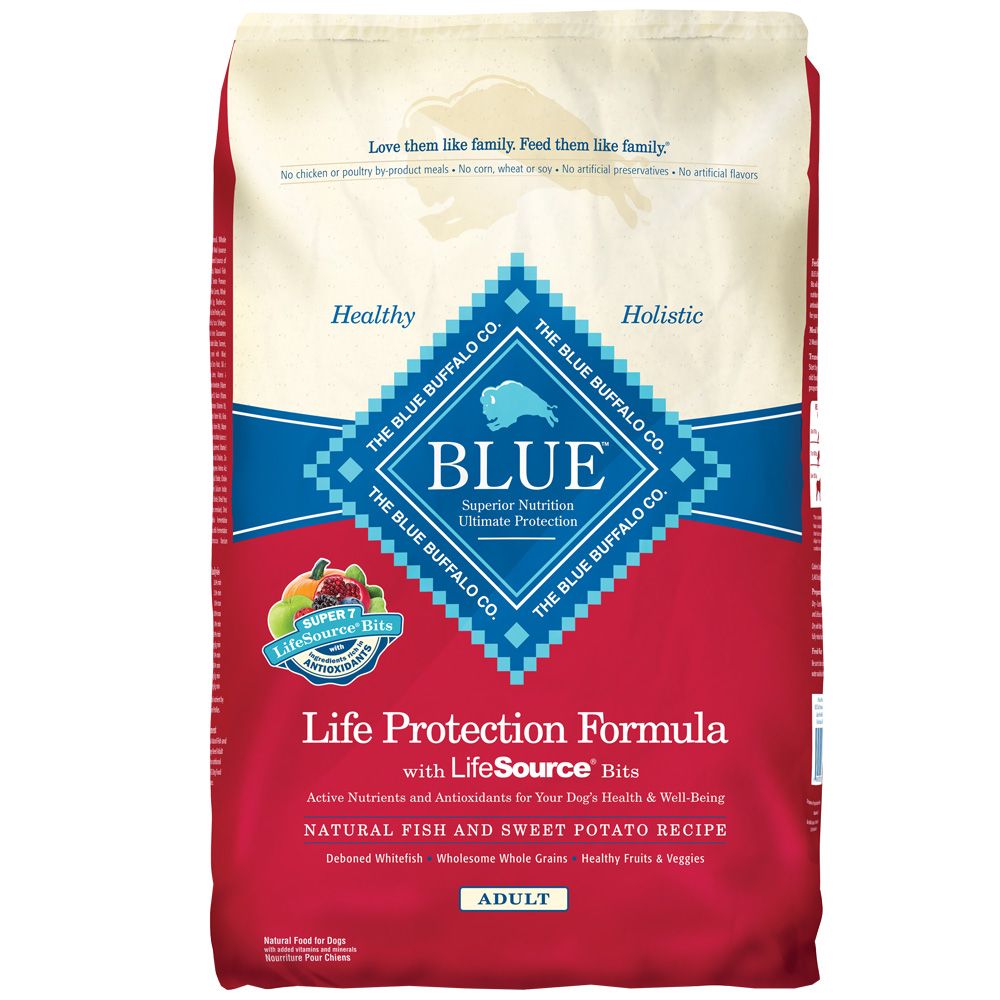 Blue Buffalo Fish & Sweet Potato Recipe for Adult Dogs - 30lb