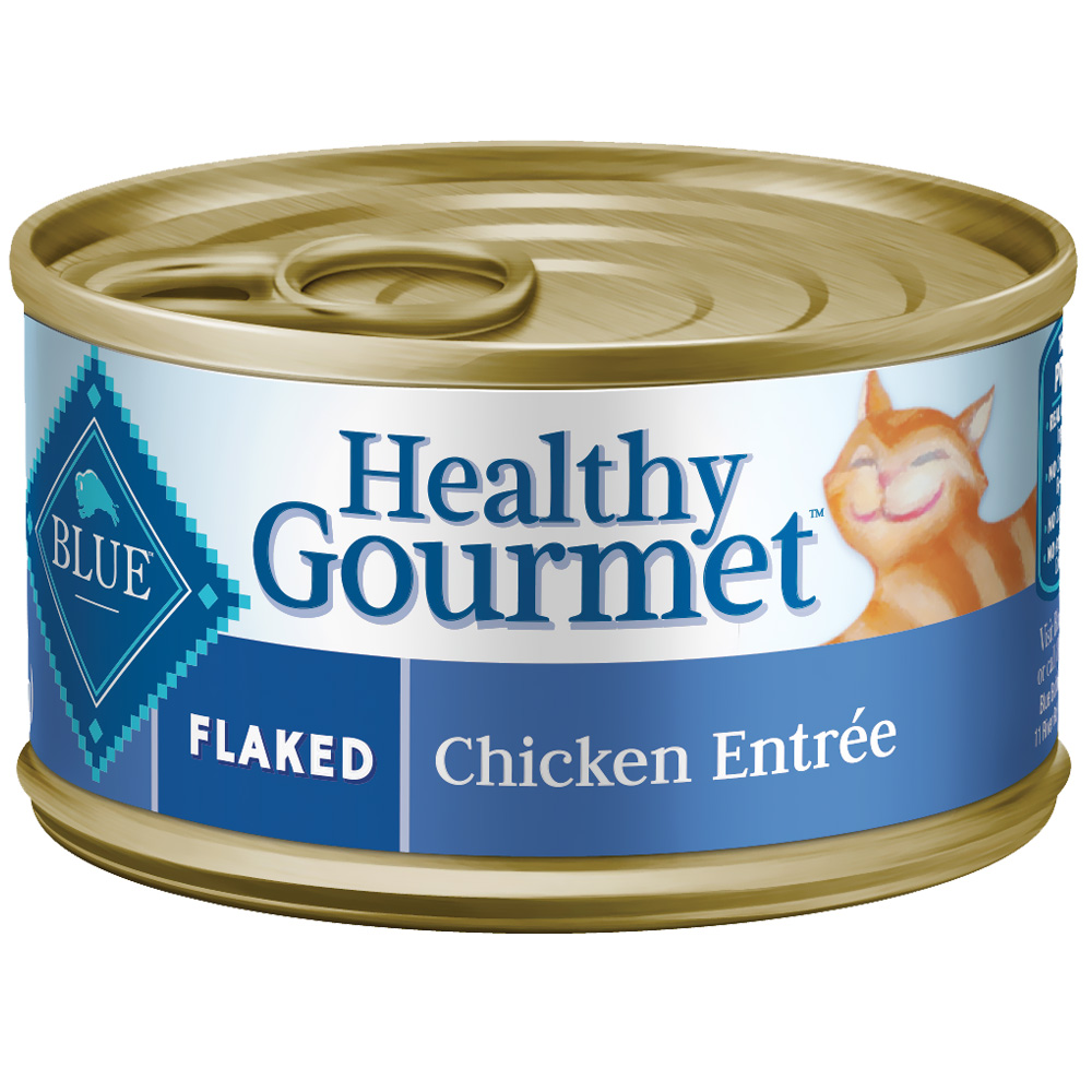 Blue Buffalo Healthy Gourmet Flaked Chicken Canned Cat Food (24x5.5 oz)