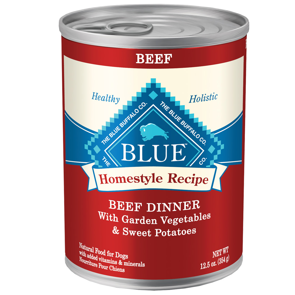 Blue Buffalo Homestyle Recipe Beef Canned Dog Food (12x12.5 oz)