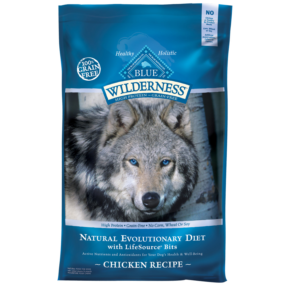 Blue Buffalo Wilderness Grain-Free Chicken Recipe for Adult Dogs - 24lb