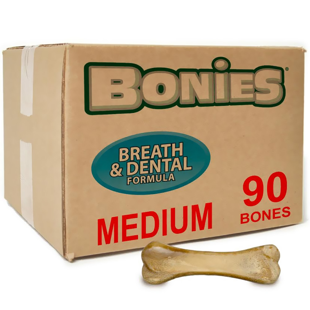 BONIES Natural Dental Health BULK BOX MEDIUM (90 Bones)