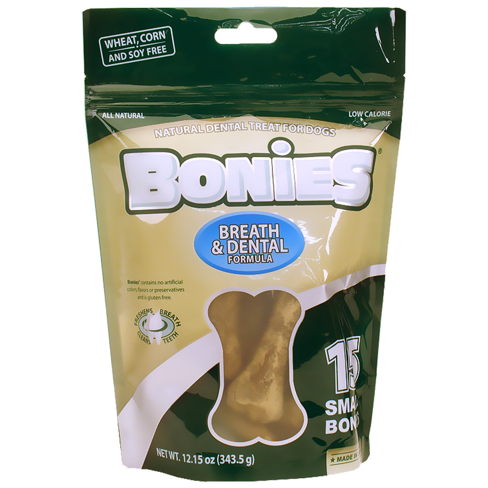 BONIES Natural Dental Health Multi-Pack SMALL (15 Bones / 12.15 oz)