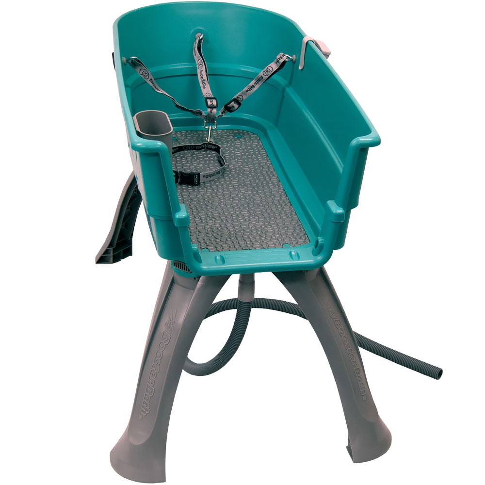"Booster Bath Elevated Pet Bathing Medium - Teal (33"" x 16.75"" x 10"")"