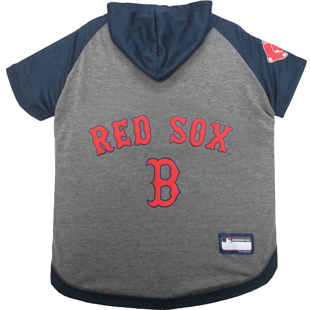 Boston Red Sox Dog Hoody Tee Shirt - Medium