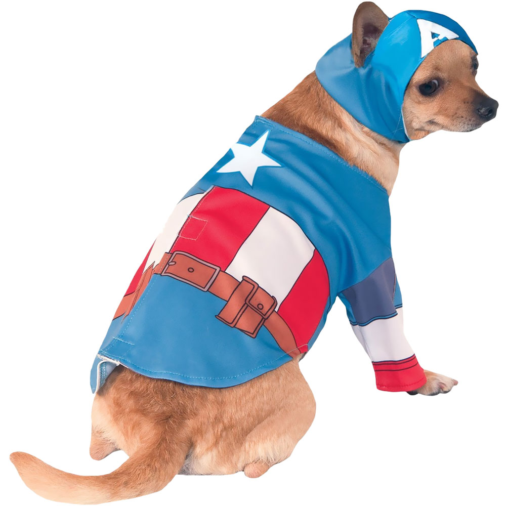 Captain America Dog Costume - Small