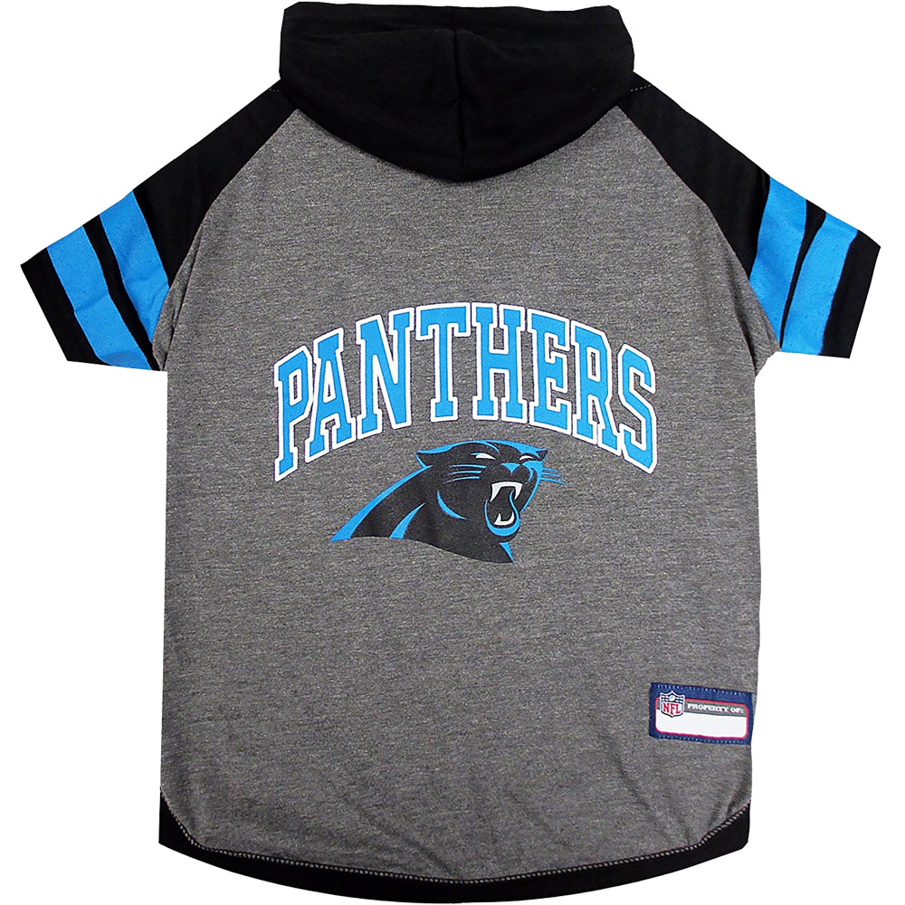Carolina Panthers Hoody Dog Tee Shirt - Large