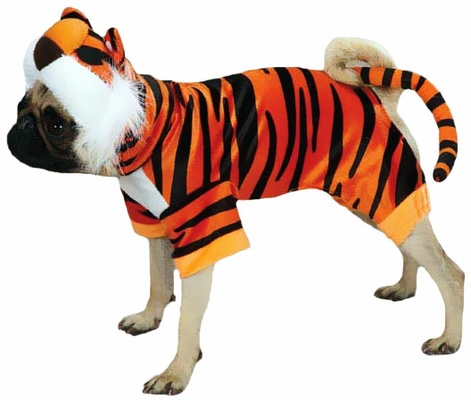 Casual Canine Bengal Buddy Costume Orange - XLARGE