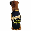 Casual Canine I'm So Corny Tee Black - XSMALL