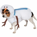 Casual Canine Mustache Snowman Dog Costume - Large
