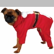 Casual Canine Santa Pajama Medium Red