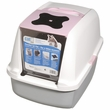 Catit Hooded Cat Litter Pan - Pink