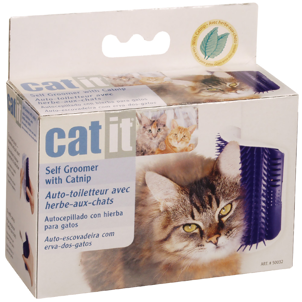 self grooming brush for cats by catit. Black Bedroom Furniture Sets. Home Design Ideas