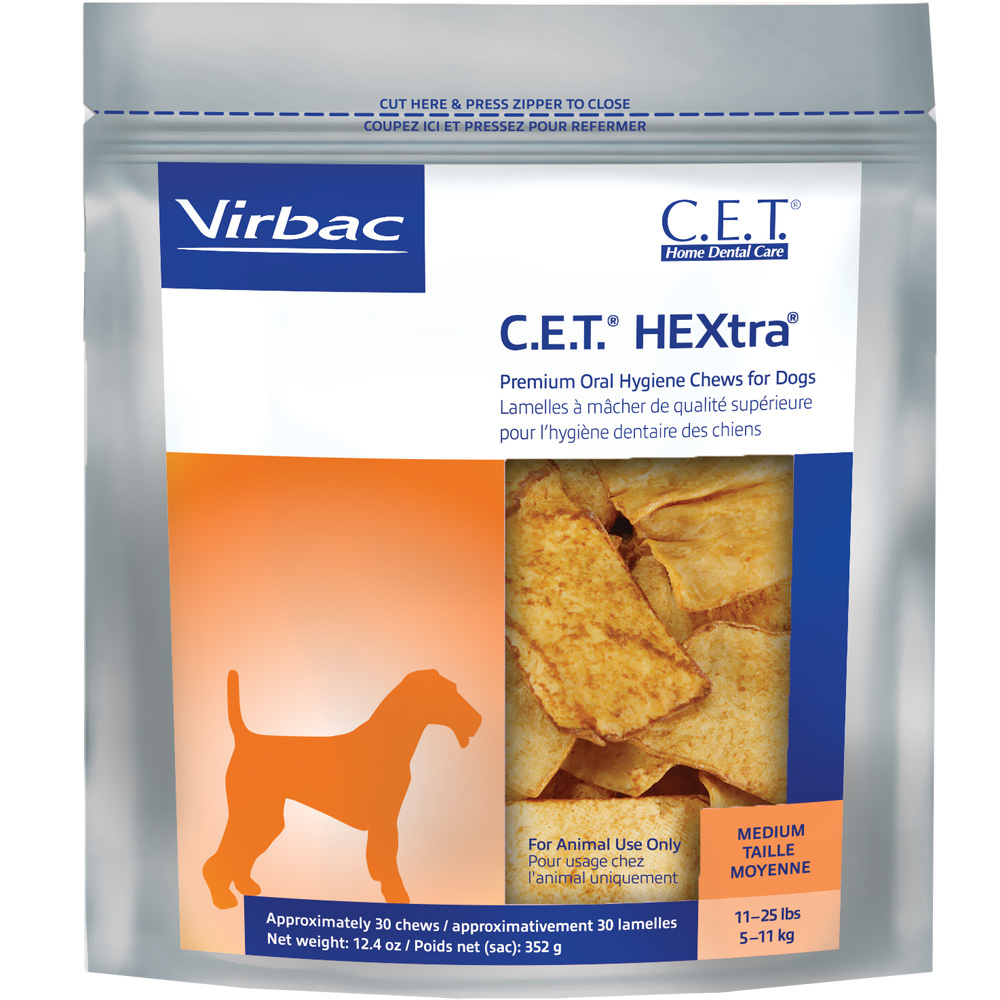 CET HEXtra Premium Chews - Medium (30 chews)