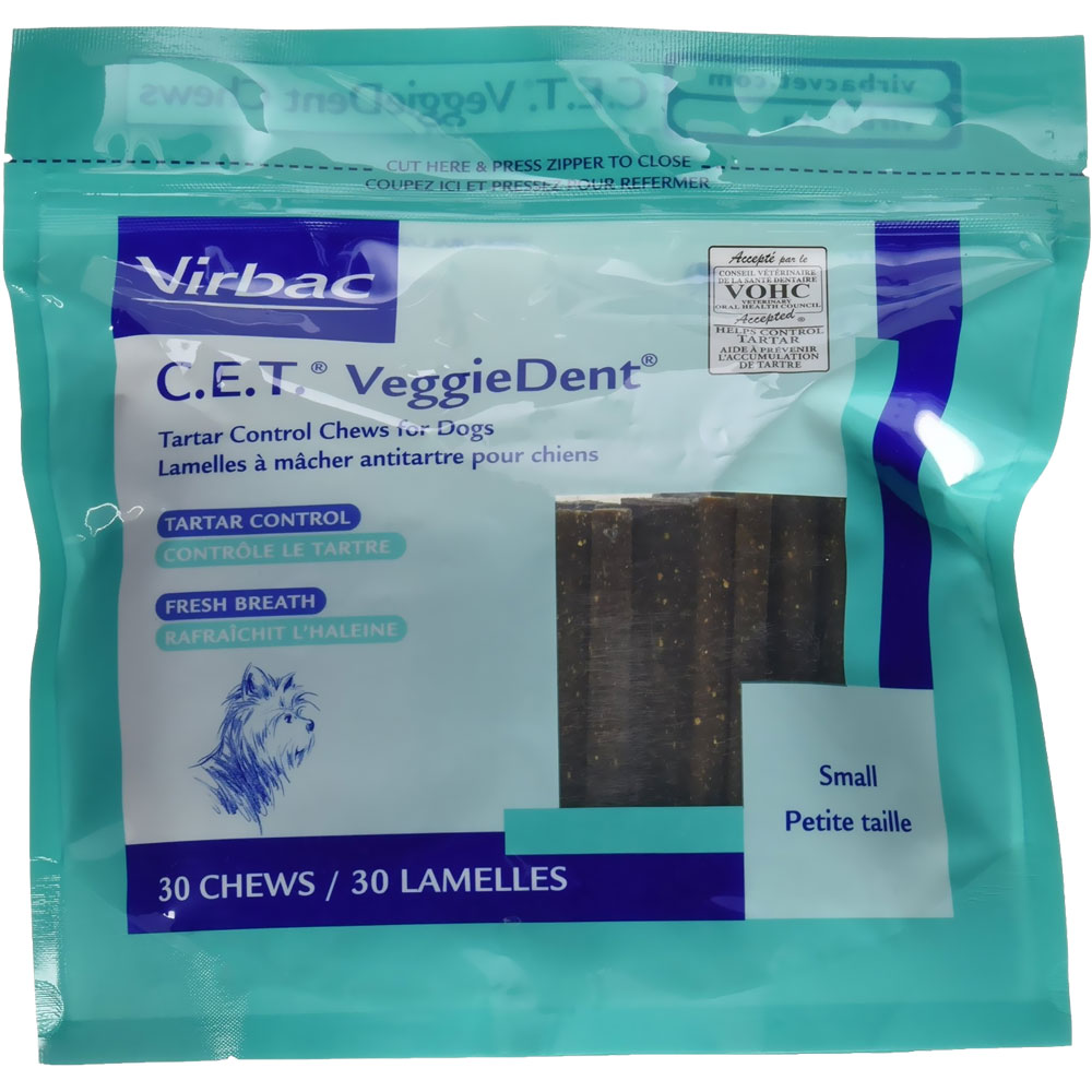 CET VeggieDent Chews for Small Dogs (30 chews)