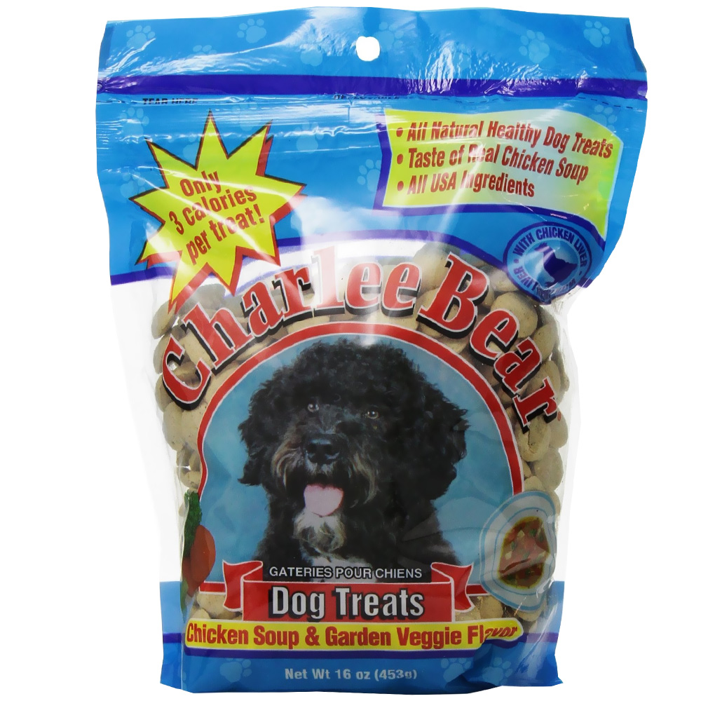 Charlee Bear Dog Treats with Chicken Soup & Garden Veggie (16 oz)